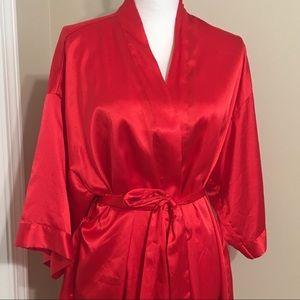 Victoria's Secret Red Satin Robe